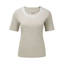 Buy Viyella Satin Leaf Top, Clay Online at johnlewis.com