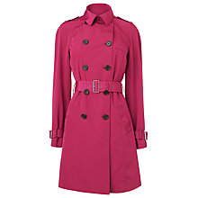 Buy L.K. Bennett Olivier Trench Coat, Red Crimson Online at johnlewis.com
