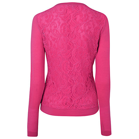 Buy L.K. Bennett Rozalie Lace Back Cardigan Online at johnlewis.com