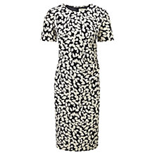 Buy Viyella Leaf Print Dress, Navy / Champagne Online at johnlewis.com
