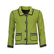 Buy Betty Barclay Jersey Jacket, Green/Grey Online at johnlewis.com