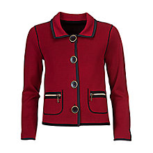 Buy Betty Barclay Jersey Jacket, Red/Black Online at johnlewis.com