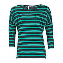 Buy Betty Barclay Stripe T-shirt, Dark Green/Emerald Online at johnlewis.com