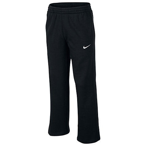 Buy Nike Boy's Slim Training Trousers, Black/White Online at johnlewis.com