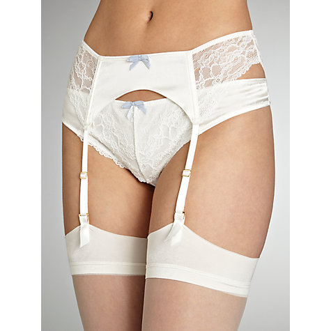Buy COLLECTION by John Lewis Lana Lace Bridal Suspender Belt, Ivory Online at johnlewis.com