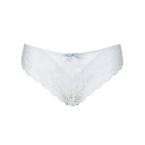 Buy COLLECTION by John Lewis Lana Lace Bridal Briefs, Ivory Online at johnlewis.com