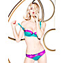 Buy L'Agent by Agent Provocateur Marisela Padded Balcony Bra, Turquoise/Cerise Online at johnlewis.com