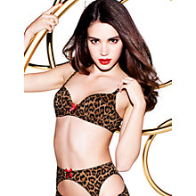 Buy L'Agent by Agent Provocateur Leonara Padded Balcony Bra, Animal Online at johnlewis.com