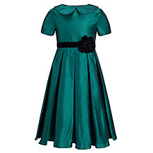 Buy John Lewis Heirloom Collection Pleat Swing Dress, Green Online at johnlewis.com