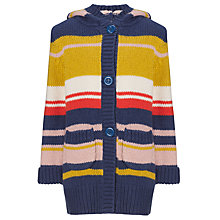 Buy John Lewis Girl Striped Long Line Cardigan, Blue/Multi Online at johnlewis.com