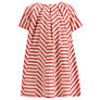 Kin by John Lewis Girls' Striped Panel Dress, Red/Cream