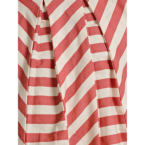 Buy Kin by John Lewis Girls' Striped Panel Dress, Red/Cream Online at johnlewis.com