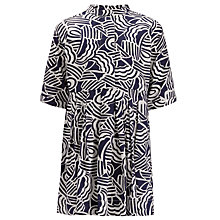 Buy Kin by John Lewis Girls' Wave Print Dress, Navy/White Online at johnlewis.com