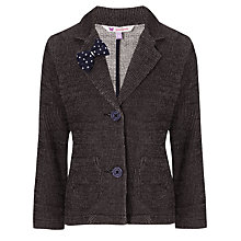 Buy John Lewis Girl Bow Detail Blazer, Peacoat Online at johnlewis.com