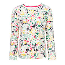 Buy John Lewis Girl Long Sleeve Flower and Heart Print Top, White/Multi Online at johnlewis.com