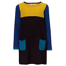 Buy John Lewis Girl Colour Block Jersey Dress, Navy/Multi Online at johnlewis.com
