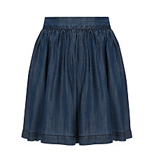 Buy John Lewis Girl Chambray Skirt, Blue Online at johnlewis.com