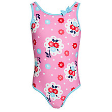 Buy John Lewis Girl Floral Swimsuit with Bow Detail, Pink/Multi Online at johnlewis.com