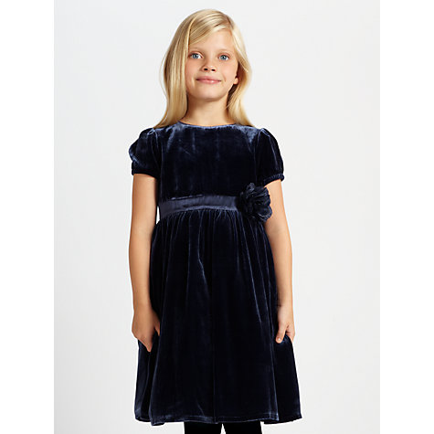 Buy John Lewis Heirloom Collection Velvet Corsage Dress Online at johnlewis.com