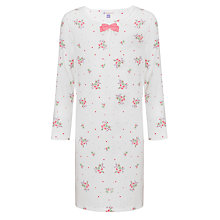 Buy John Lewis Girl Long Sleeve Vintage Rose Nightdress, Cream Online at johnlewis.com
