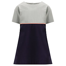 Buy Kin by John Lewis Girls' Colour Block Dress, Navy/Artic Online at johnlewis.com
