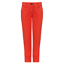 Buy John Lewis Girl Banana Leg Trousers, Poppy Red Online at johnlewis.com