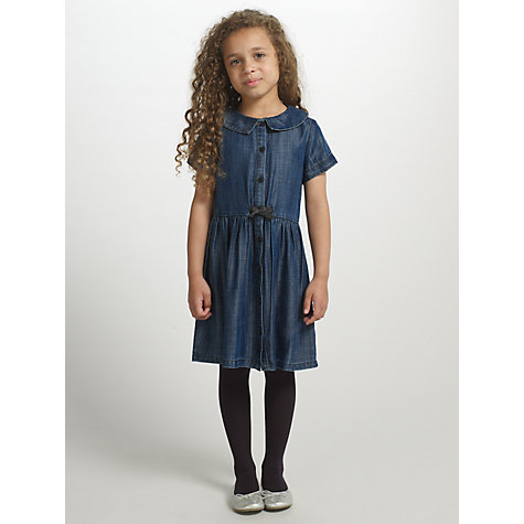 Buy John Lewis Girl Shirt Dress, Denim Online at johnlewis.com