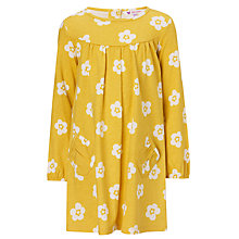 Buy John Lewis Girl Floral Jersey Dress, Yellow/White Online at johnlewis.com