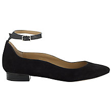Buy Whistles Barbara Ballet Pumps, Black Online at johnlewis.com