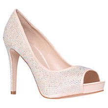 Buy Carvela Grind Peep Toe Court Shoes, Cream Online at johnlewis.com