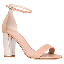 Buy Kurt Geiger Isabella Crocodile Print Leather Heeled Sandals Online at johnlewis.com