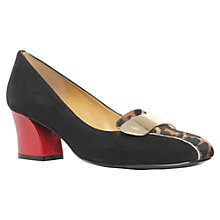 Buy Nine West Sofly Court Shoes, Black/Red/Leopard Online at johnlewis.com