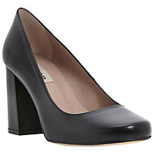 Buy Dune Agaze Block Heel Court Shoes, Black Online at johnlewis.com
