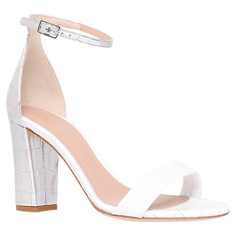 Buy Kurt Geiger Isabella Crocodile Print Heeled Sandals Online at johnlewis.com