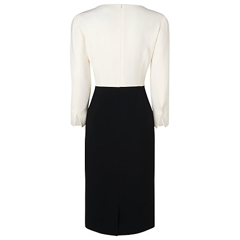 Buy L.K. Bennett Sativie Split Dress, Cream Online at johnlewis.com