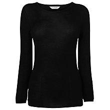 Buy L.K. Bennett Todi Crew Neck Top, Black Online at johnlewis.com