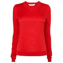 Buy L.K.Bennett Verain Silk Top, Poppy Online at johnlewis.com