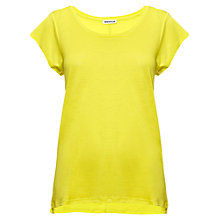 Buy Whistles Faye Seam Back T-Shirt, Yellow Online at johnlewis.com