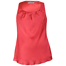 Buy Chesca Button Trim Tuck Detail Camisole, Coral Online at johnlewis.com