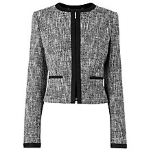 Buy L.K. Bennett Julie Grosgrain Jacket, Black Online at johnlewis.com
