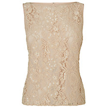 Buy L.K. Bennett Leila Lace Top, Nude Online at johnlewis.com