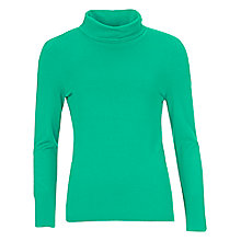Buy Betty Barclay Long Sleeve Polo Neck Jumper, Pepper Green Online at johnlewis.com