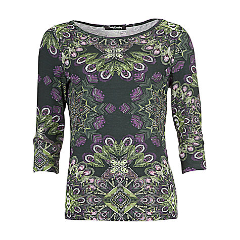 Buy Betty Barclay 3/4 Sleeve Top, Grey/Green Online at johnlewis.com