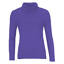 Buy Betty Barclay Long Sleeve Polo Neck Jumper, Ultra Violet Online at johnlewis.com