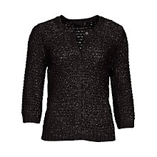 Buy Betty Barclay Waffle Cardigan, Black Online at johnlewis.com