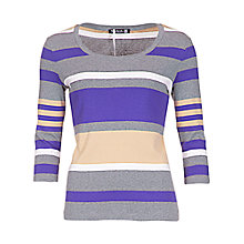 Buy Betty Barclay 3/4 Sleeve Stripe Top, Grey/Violet Online at johnlewis.com