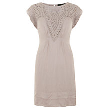 Buy Mint Velvet Crinkle Embroidered Dress Online at johnlewis.com