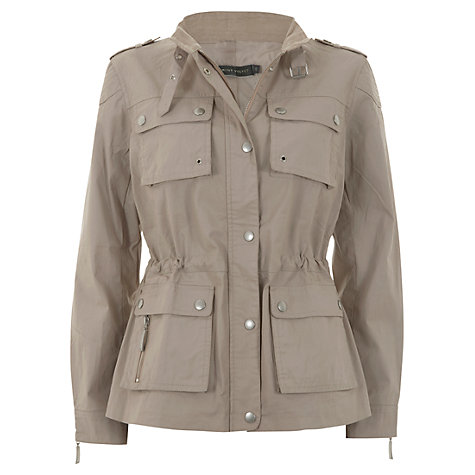 Buy Mint Velvet Waxed Jacket, Neutral Online at johnlewis.com