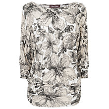 Buy Phase Eight Bernadette Floral Top, Neutrals Online at johnlewis.com