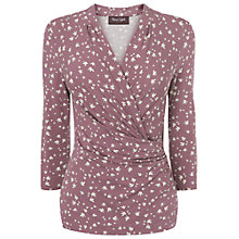 Buy Phase Eight Tiny Bird Wrap Top, Pink/Ivory Online at johnlewis.com